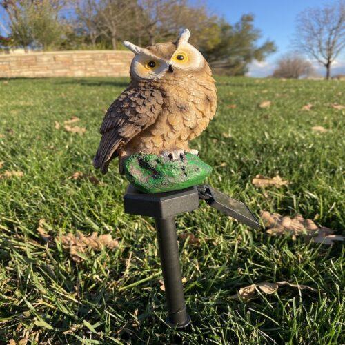 B0014_Brown Owl Solar Garden Stake Light LingBusiness