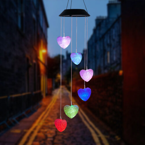 A0024 Heart Solar Wind Chime LingBusiness