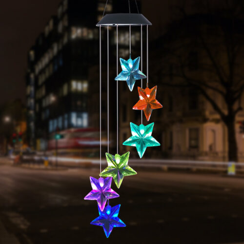 A0032 Star Solar Wind Chime LingBusiness