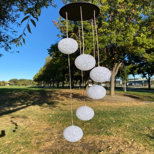 A0022 Crystal Ball Solar Wind Chime LingBusiness