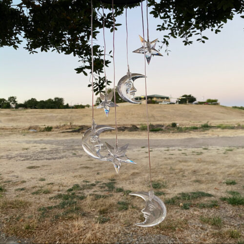 A0031 Moon Star Solar Wind Chime LingBusiness