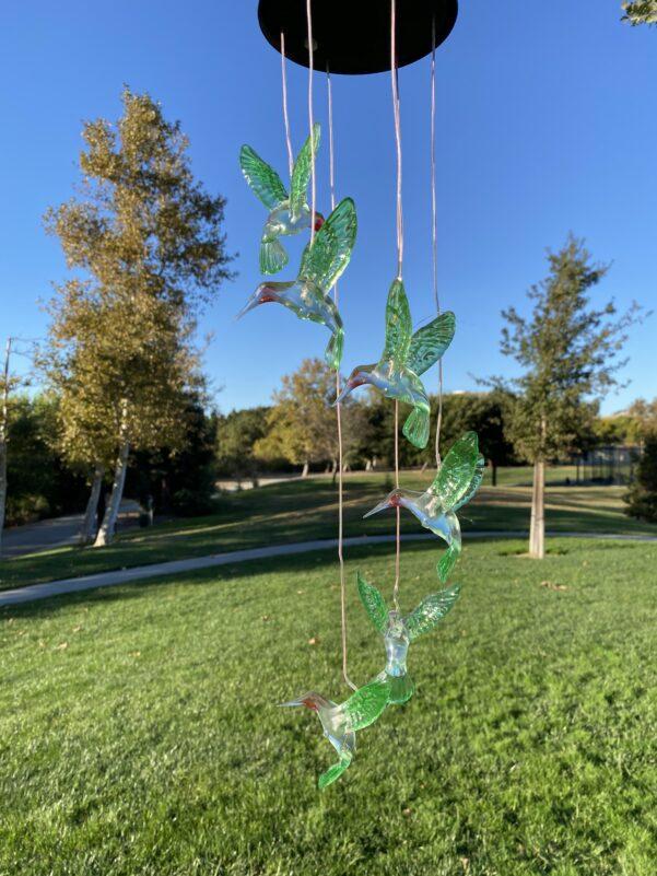 A0041 Hummingbird Solar Wind Chime LingBusiness