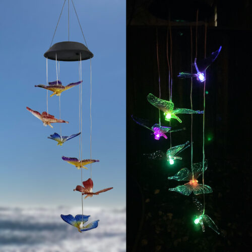 A0016 Combo Butterfly Solar Wind Chime LingBusiness